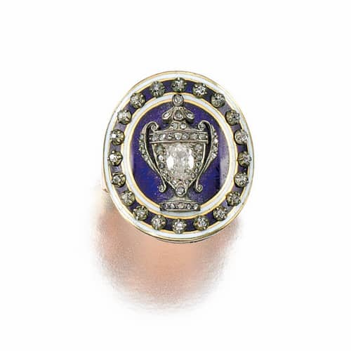 Georgian Diamond Enamel Urn Mourning Ring.jpg