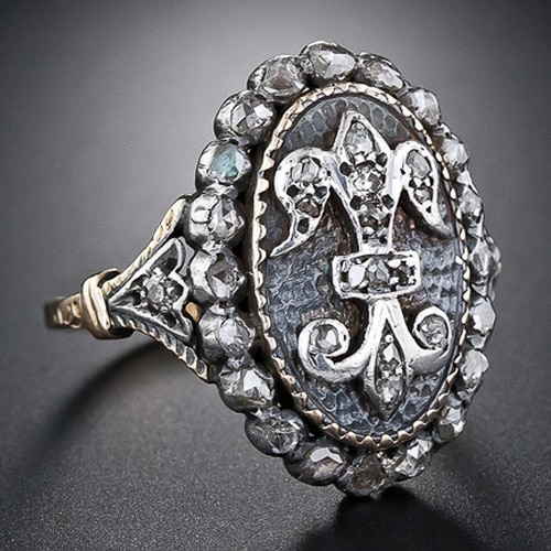 Georgian Diamond Fleur de Lis Ring.jpg