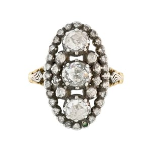 Georgian Diamond Oval Shaped Ring.jpg