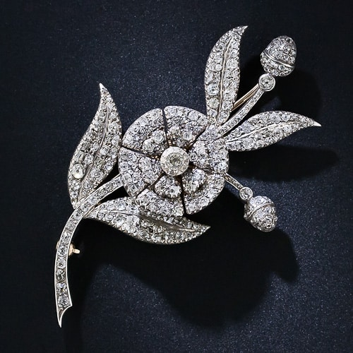 Georgian En Tremblant Diamond Brooch.jpg