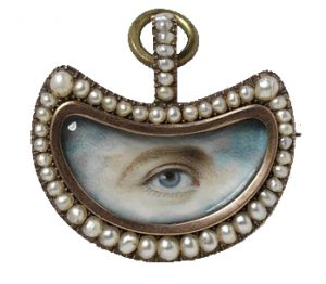 Georgian Eye Miniature Portrait.