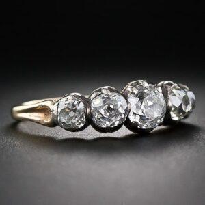 Silver Topped Georgian Diamond Ring.