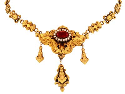 Georgian Garnet and Seed Pearl Necklace.jpg