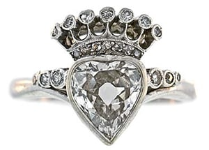 Georgian Heart Shaped Diamond Ring.jpg