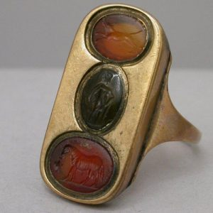 Georgian Ancient Intaglio Ring.