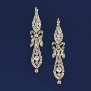 Pair of Georgian Pendeloque Paste Earrings. Photo Courtesy of Christie's.