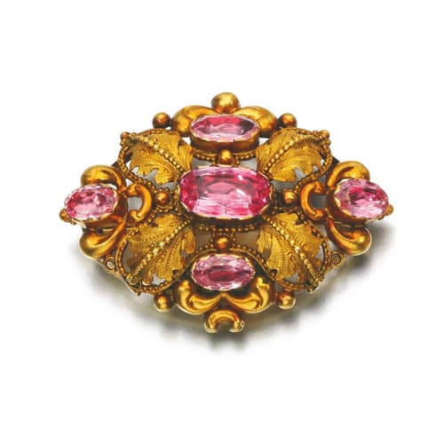 Georgian Pink Topaz Brooch.jpg