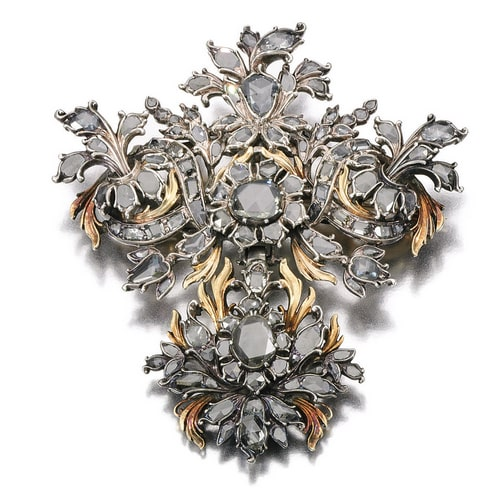 Georgian Rose Cut Diamond Brooch.jpg