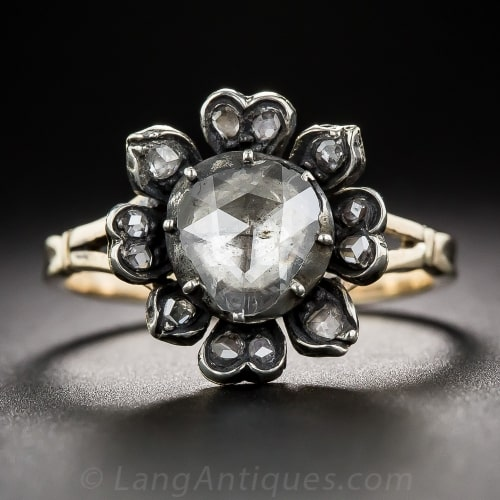 Georgian Rose Cut Diamond Engagement Ring.jpg