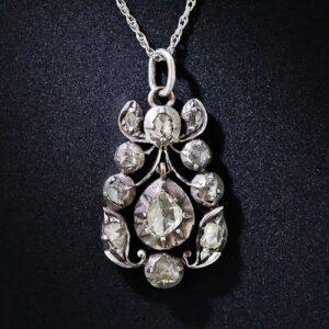 Georgian Rose-Cut Diamond Necklace.