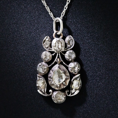 Georgian Rose Cut Diamond Necklace.jpg
