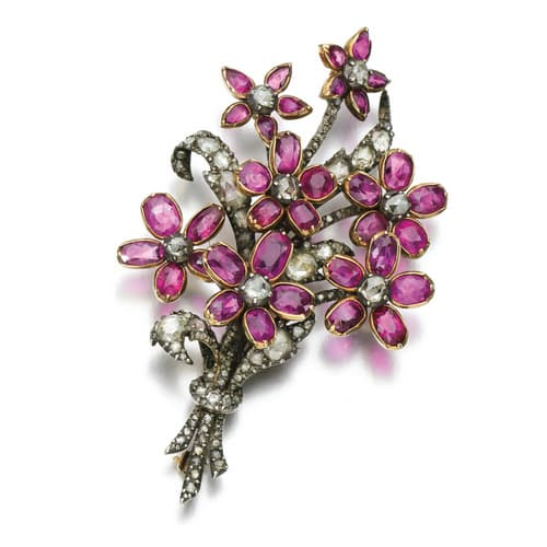 Georgian Ruby Floral Bouquet Brooch.jpg