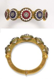 Gem-Set and Enameled Bracelet by Giuliano. Photo Courtesy of Christie's.