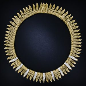 Gold Fringe Collar, c.1950s-60s.