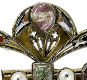 Clasp-Reliquary with Eagle, c.14th Century. (Detail)