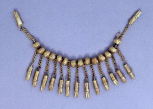Greek Necklace with Chain, Beads and Pendants c.8th century BC.