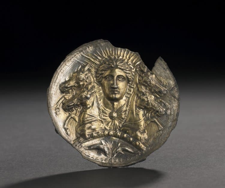 Greek Silver-Gilt Disc, Probably a Horse-Phalera. Date: 5thC BC-2ndC BC