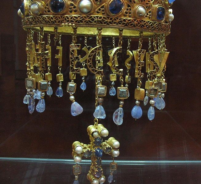 Guarrazar Treasure Votive Crown Detail
