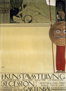 Gustav Klimpt Poster Created for the First Exhibition of the Vienna Secession, c.1898.