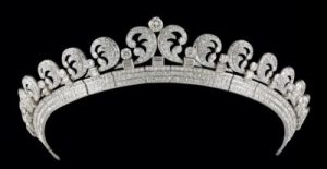 The Scroll/Halo Tiara by Cartier Most Recently Worn By Katherine Middleton for her Marriage to Prince William.