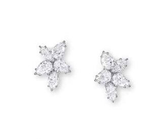 Harry Winston Diamond Cluster Earrings. Image courtesy of Christie's