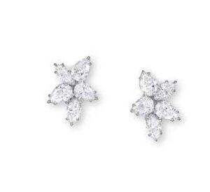 Harry Winston Diamond Cluster Earrings. Image courtesy of Christie's