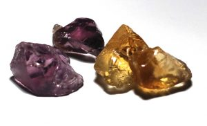 Natural Amethyst and Heat Treated Amethyst-Gone-Citrine