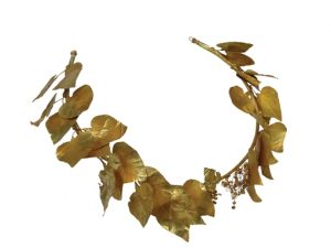 Hellenistic Gold Wreath, Circa 350-300 BC. Photo Courtesy of National Archaeological Museum of Greece.