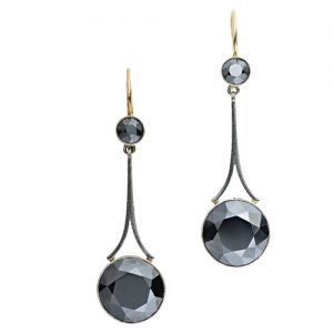 These Antique Style Hematite Earrings are a Perfect Example of Metallic Luster.