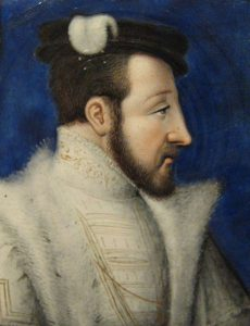 Detail from plaque of Henry II of France, c.1555-1560.