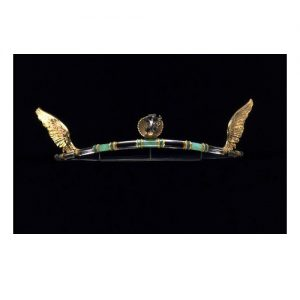 Rock Crystal, Chrysoprase, Enamel and Silver Arts & Crafts Tiara Henry Wilson c.1908.