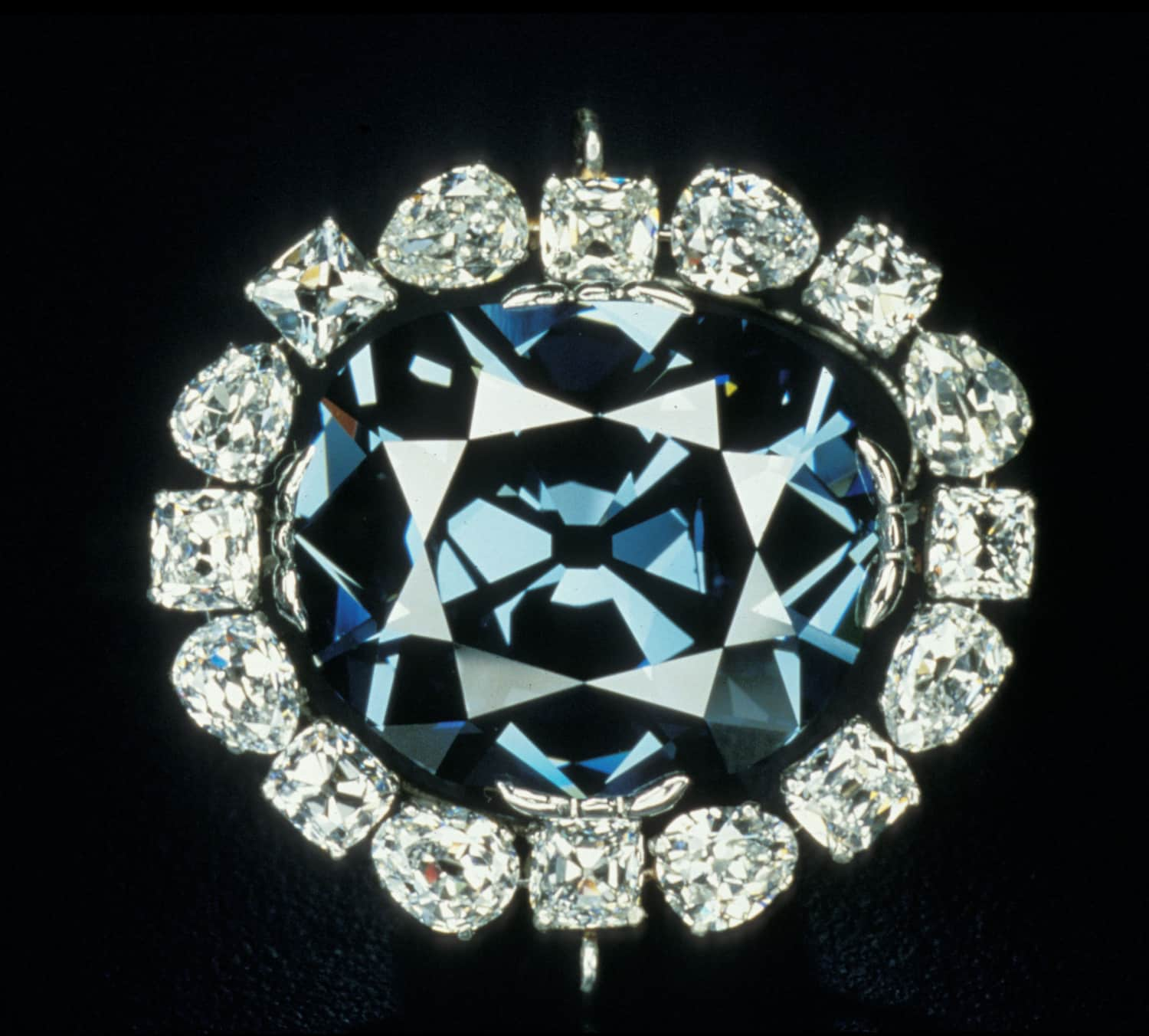 The Hope diamond. Image Courtesy of The Smithsonian Institute.
