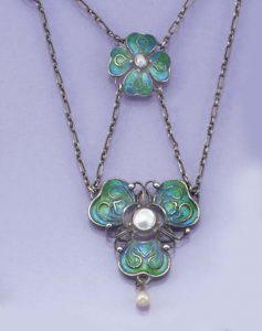 Arts & Crafts Enamel and Sterling Silver Necklace, Horner.