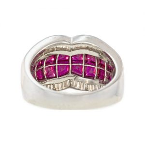 A Fine Wire Grid Supports the Invisibly Set Rubies in this Band.