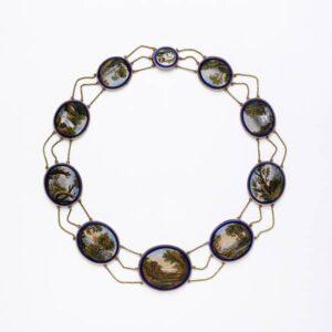 Italian Micromosaic Necklace en Esclavage. c.1810.