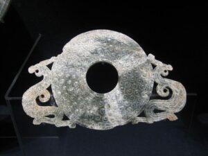 A Jade Bi with Two Dragons, Eastern Zhou Dynasty.