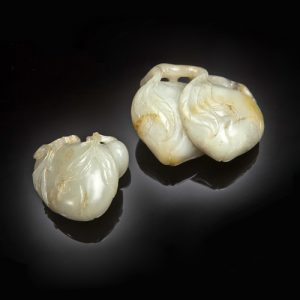 Carved Jadeite Peaches c.18th-19th Century. Photo Courtesy of Christie's.