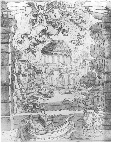 Design of Jean Bérain of Lully's Armide. 1686.