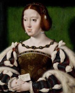 Portrait of Königin Eleonore von Frankreich (1498-1558) by Joos van Cleve c.1530.