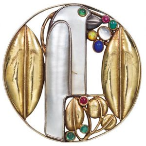 Josef Hoffmann Brooch. Photo Courtesy of Christie's.