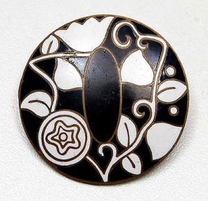 Josef Hoffmann Enamel Brooch. Photo Courtesy of Christie's.