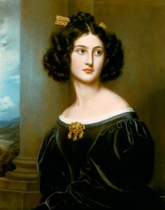 Nanette Kaula Wearing a Sévigné Brooch. By J.K. Stieler, 1829.