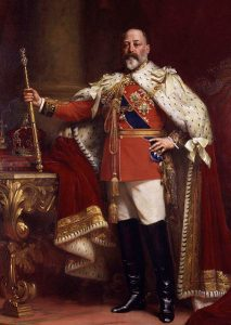 King Edward VII of Great Britain, 1901-1910.
