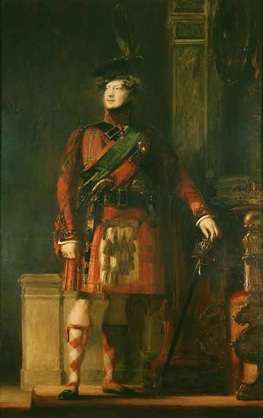 Portrait of King George IV in His Highland Garb, by Sr. David Wilke, 1829.