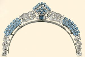 LaCloche Freres Art Deco Aquamarine and Diamond Necklace/Tiara, c.1930