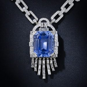 Lacloche Frères Sapphire and Diamond Necklace.