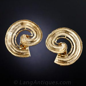 Textured Spiral Lalaounis Earrings.
