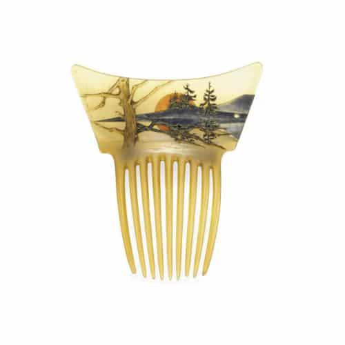 Lalique_Art_Nouveau_Horn_Enamel_Haircomb