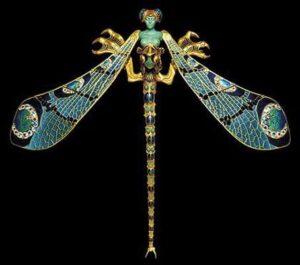 Rene Lalique Plique-à-Jour Dragonfly Brooch.