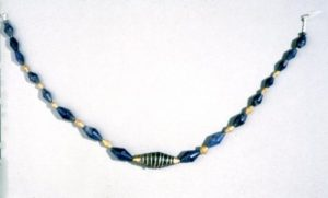 Lapis and Gold Beads, Ur c.2600 BC.